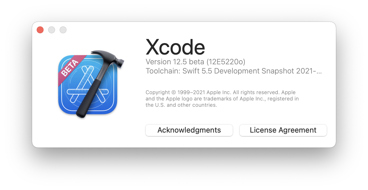 Xcode 12.5 with swift 5.5 toolchain.